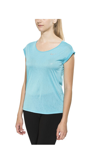Nike Dri-Fit Cool Breeze Short Sleeve Top Women Omega Blue/Reflective Silv